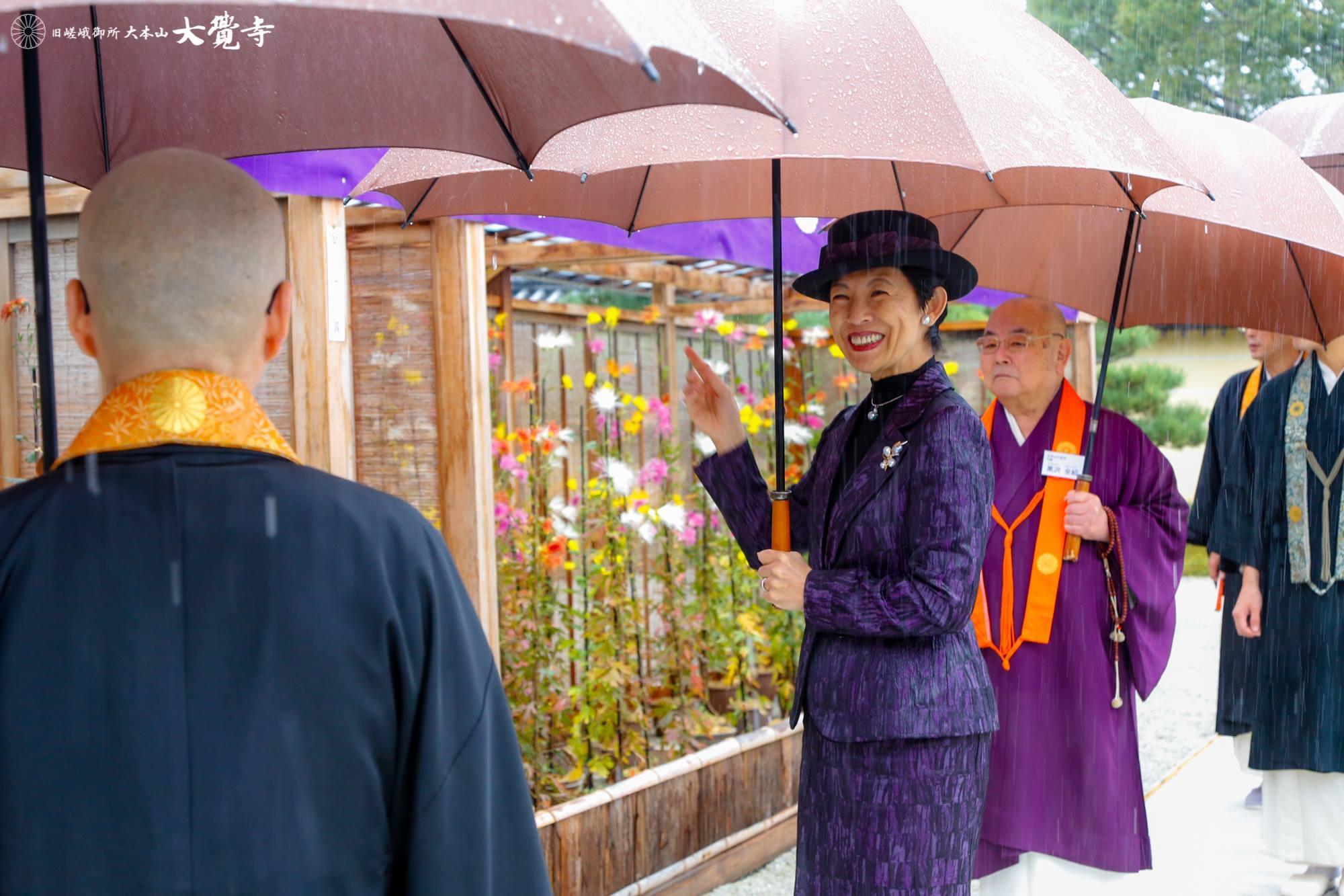 高円宮妃久子さまが大覚寺に御成りになりました