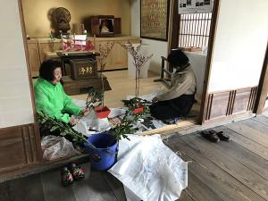 寺内挿花②