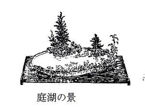 庭湖の景 伝書の絵