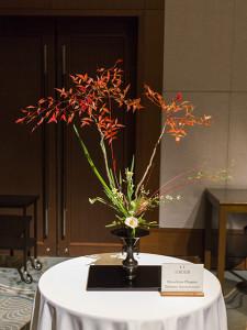 I.I.の日本国内の支部が、それぞれ代表作品をいけて展示されていました。