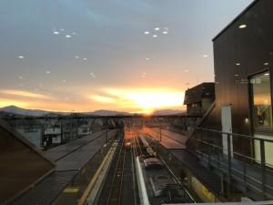 嵯峨嵐山駅6:50
