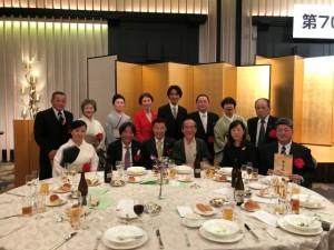 門川大作京都市長様を囲んで同じテーブルの皆様と。
