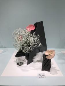 庄司信洲、日本を代表する陶芸家とのコラボレーションコーナーにおいて。